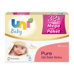 Uni Baby Pure Islak Bebek Havlusu 32'li Mega Paket 1792'li