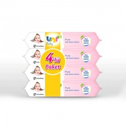 Uni Baby Pure Islak Havlu 4'lü 224 Yaprak