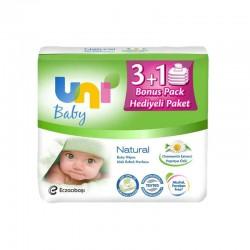 Uni Baby Natural Islak Havlu 4 lü  224 Yaprak