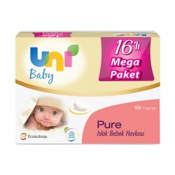 Uni Baby Pure Islak Bebek Havlusu 16'lı Mega Paket 896'lı